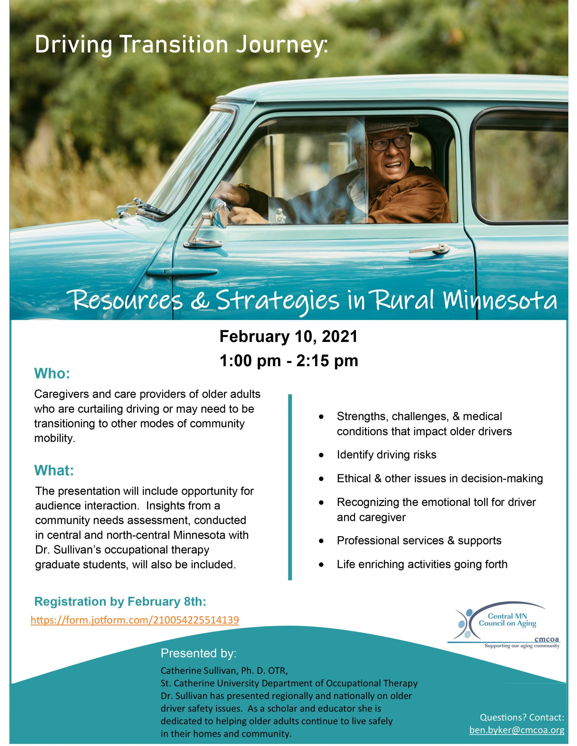 upcoming driving transitions event flyer
