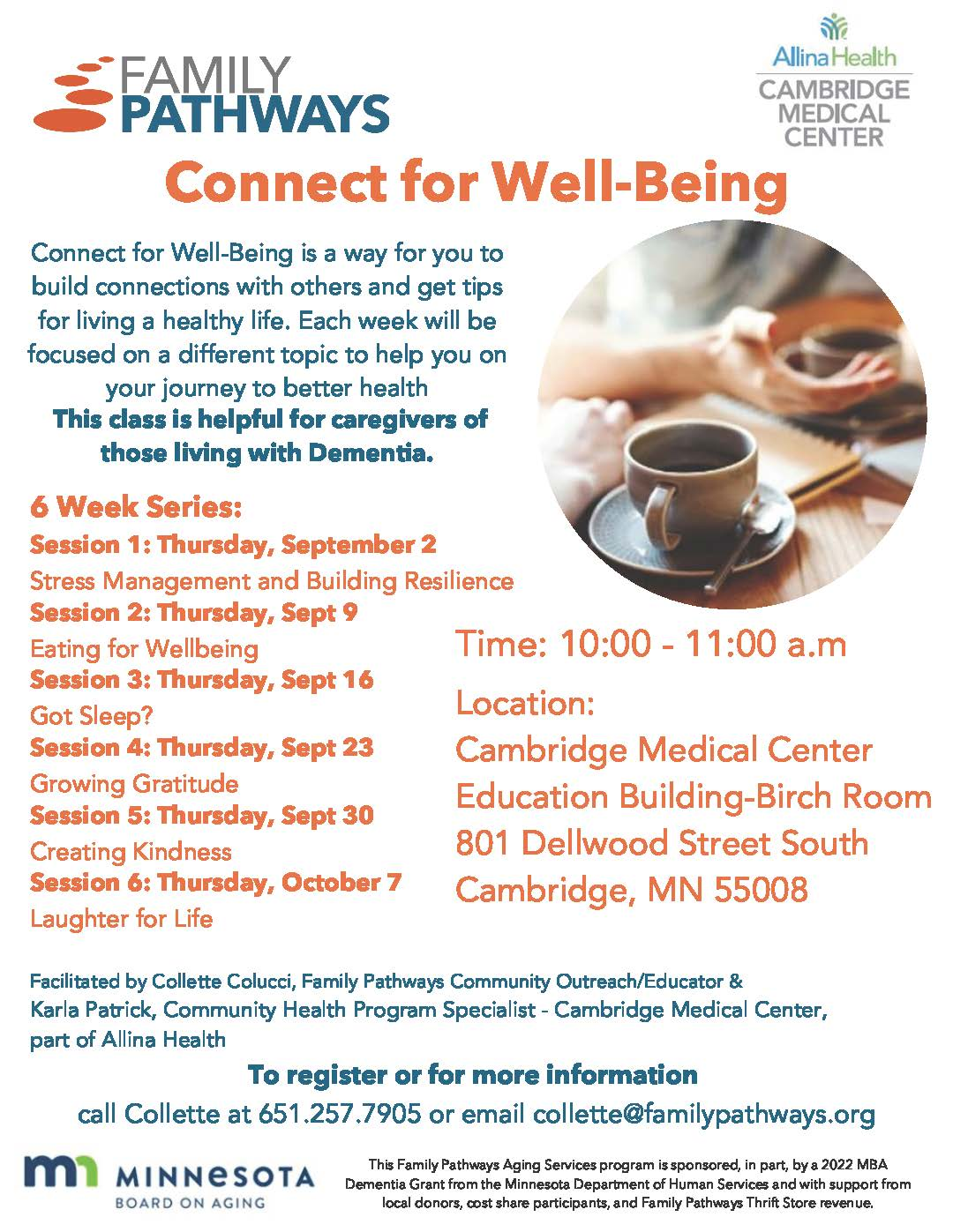 Family Pathways Connect for Well-Being flyer